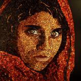 AFGHAN GIRL MOSAIC