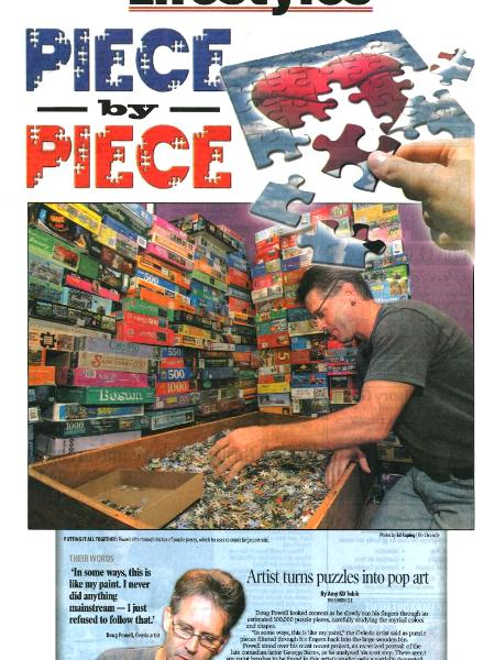 Piece By Piece puzzle mosaic article, Doug Powell