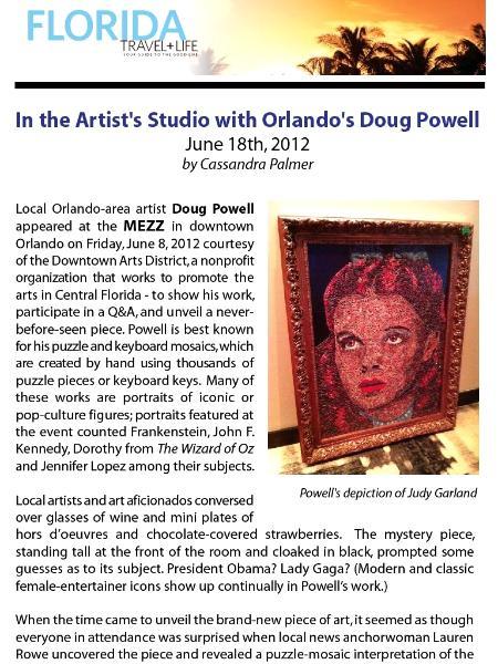 IN THE ARTIST'S STUDIO WITH ORLANDO'S DOUG POWELL